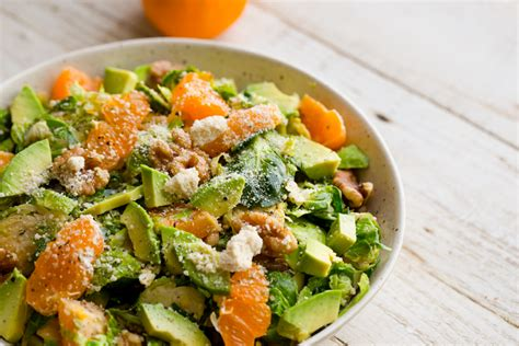 Sprouts Sweepstakes - shredded brussels sprouts salad walnuts avocado citrus fast easy
