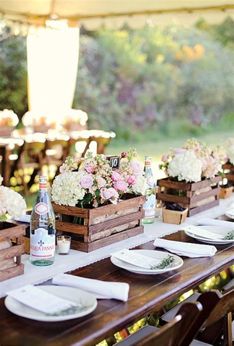 Wedding Table Themes 20 Great Ideas To Use Wooden Crates At Rustic Weddings Tulle Chantilly Wedding