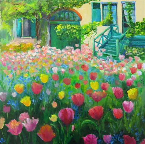 paintings  gardens images  pinterest