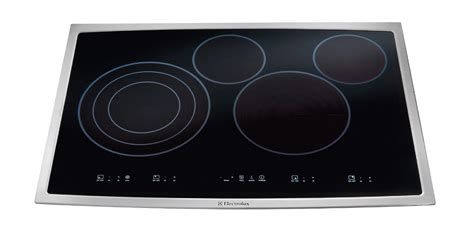 stainless steel cooktop electric electrolux ei30ec45ks 30 quot electric cooktop stainless steel
