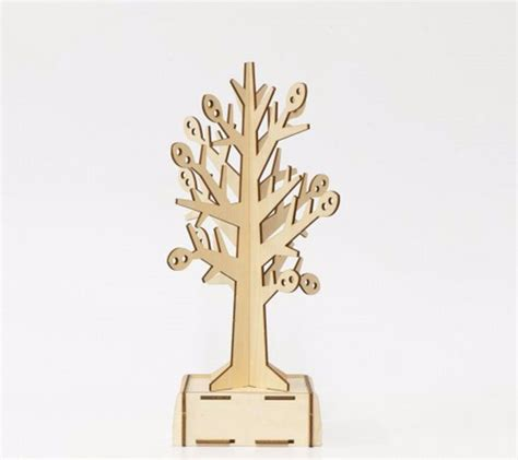 Kigumi 3d Puzzle Kayu Standing Cat Puzzle 3d ki gu mi plywood puzzle tree jewellery stand kigumi wooden 3d wooden puzzle ebay