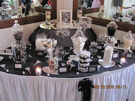 Candy Buffet Photos Our Black And White Candy Buffet Black And White Buffet