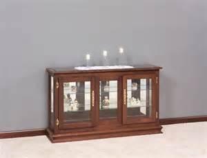 Curio Cabinet Console Amish Large Console Curio Cabinet