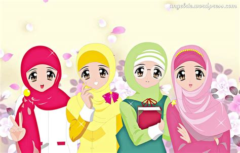 cute muslimah cartoon  photo collections oursongfortoday