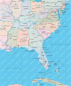 east america map usa eastern map illustrator mountain high maps plus