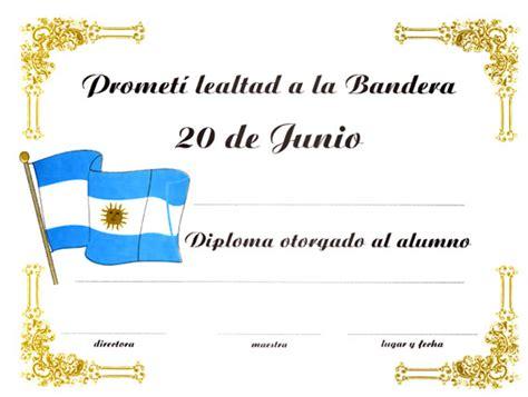 Diploma Jura De La Bandera   567 x