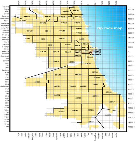 chicago map with zip codes zip code map chicago il images
