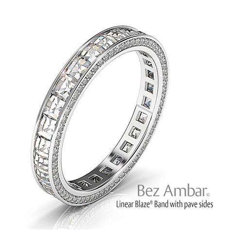 wedding band with brilliant cut diamonds all