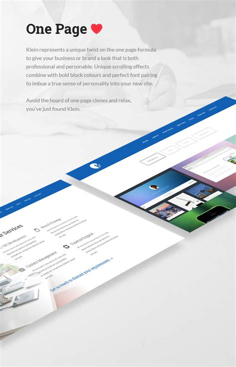 one page parallax template free site templates klein responsive parallax one page