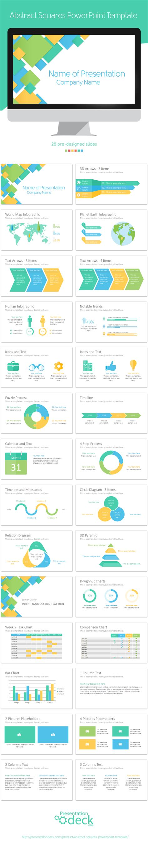 squares powerpoint template abstract squares powerpoint template ppt presentation
