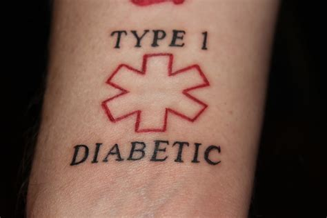 diabetic symbol tattoos designs type 1 my diabetes alert tattoomagz