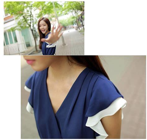 Dress Mini Import mini dress import korea kerah v model terbaru jual