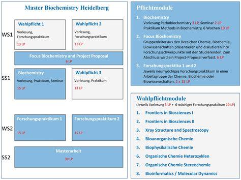 Uni Heidelberg Bewerbung Biologie Master Biochemistry