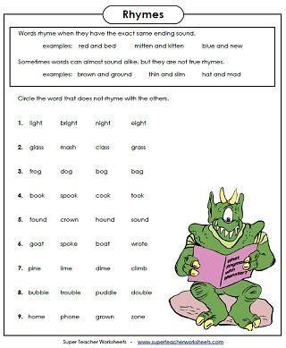 5 Letter Words Gr rhyming worksheets phonemic awareness literacy