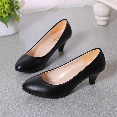Sepatu High Heelspump Shoes Import 14cm Black jual shh802 black sepatu heels import wanita 5 5cm