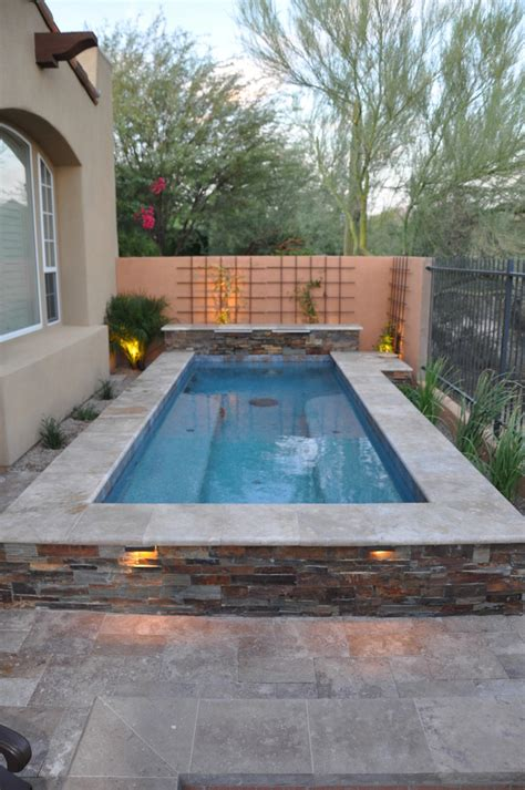 spool spa pool Pool Modern with beams Concrete Pathway
