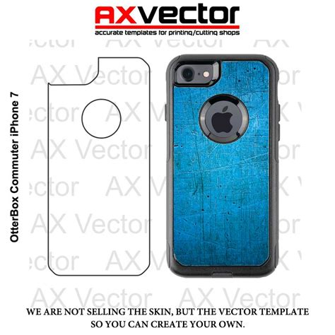 otterbox commuter iphone 7 vector template contour cut file