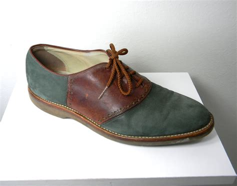 vintage oxford shoes teal suede vintage s oxford saddle shoes by