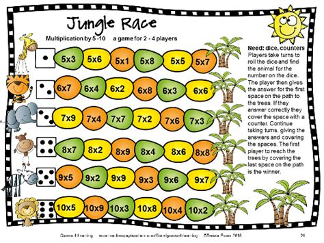 multiplication and division printable board games fun games 4 learning may 2015