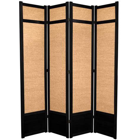 black room divider black slate 7 ft black 4 panel room divider sg 178a the home depot