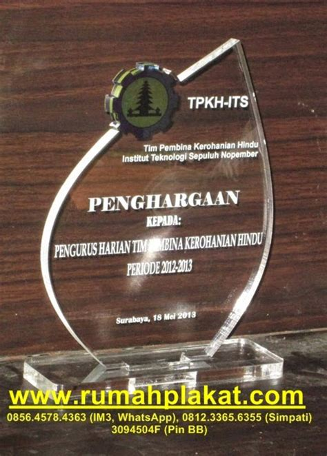 Acrylic Malang mei 2014 rumah plakat plakat vandel trophy medali piala