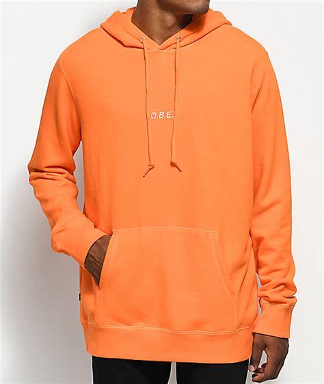 Obey Orange obey corsaire orange pullover hoodie zumiez