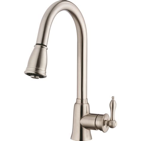 danze kitchen faucet danze d454410ss prince stainless steel pullout spray