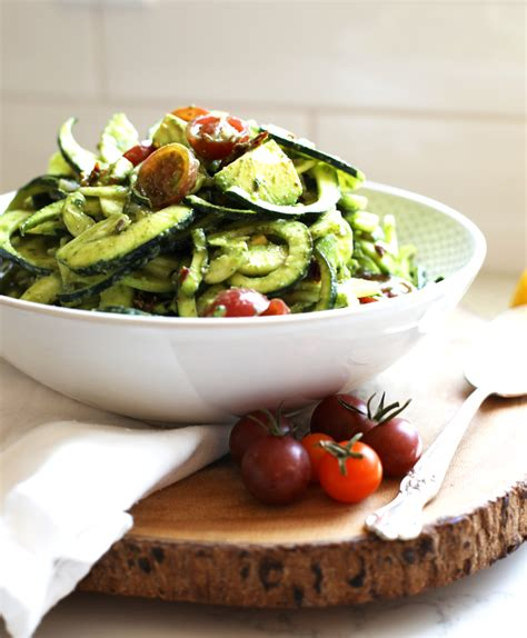 Pesto Pasta Salad Recipe Cold Zucchini Pasta Salad Little Bits Of Real Food