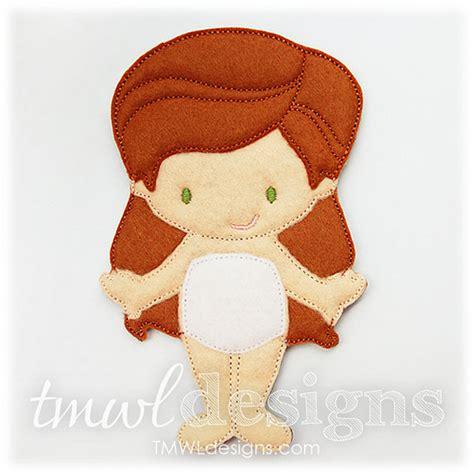 design doll file location amelie felt paper doll toy digital design file 5x7 from