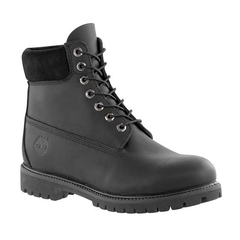 black timberland boots for s 6 quot premium waterproof boots in black smooth