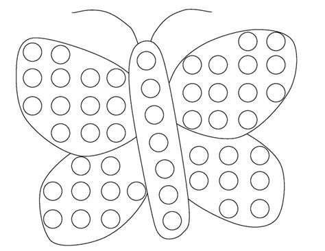 butterfly do a dot coloring page 171 funnycrafts coloring home