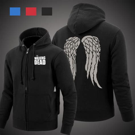 Hoodie The Walking Dead 2 the walking dead 4 daryl dixon wings costume walking dead hoodie shirt plus size daryl dixon