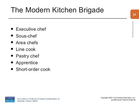 Classical Kitchen Brigade by 0135108985 Pp1a