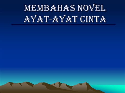 ayat ayat cinta 2 ending unsur intrinsik novel aac