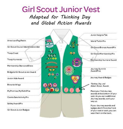 scout junior sash diagram scout badges images