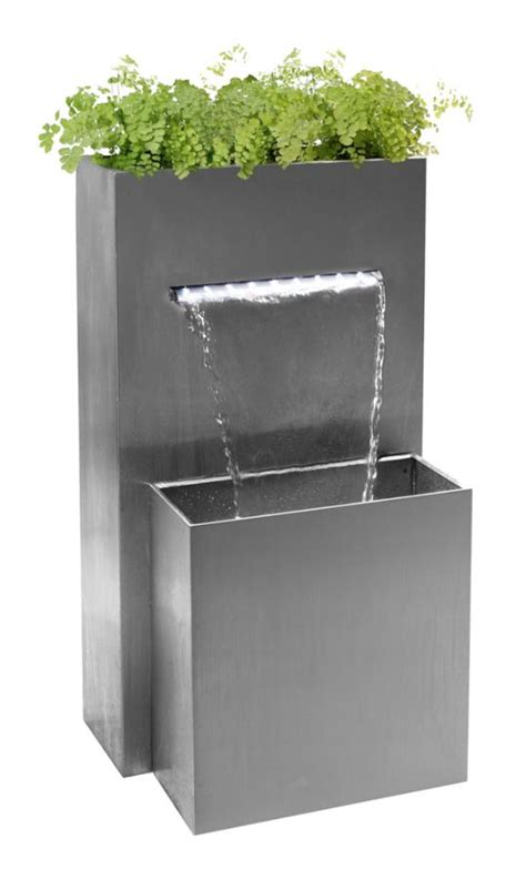 Small Rectangular Planter by Small Rectangular Planter Waterfall Cascade With Led