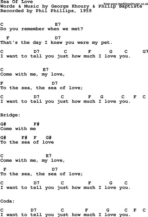 lyrics with chords song lyrics with guitar chords for sea of phil