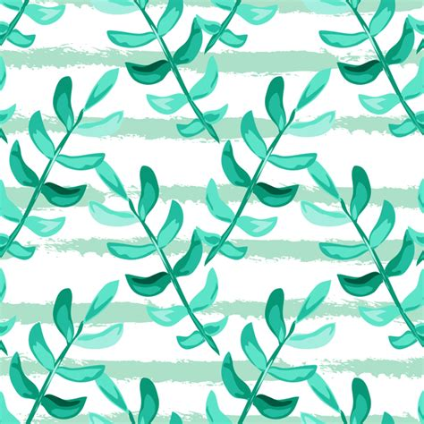 branch name pattern means tree branches with leaves seamless pattern vector 03