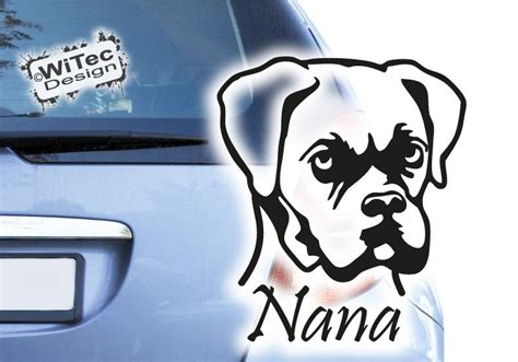 Aufkleber F Rs Auto Hund by Aa256 Auto Aufkleber Boxer Autoaufkleber Sticker Hund