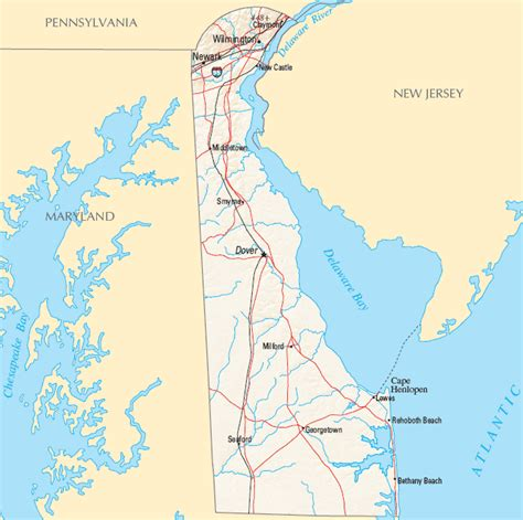 map of delaware cities delaware map map of delaware
