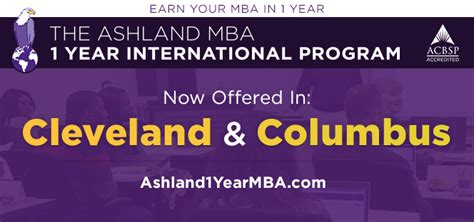 1 Year Mba Programs by Graduate Degree Programs In Ohio Ashland