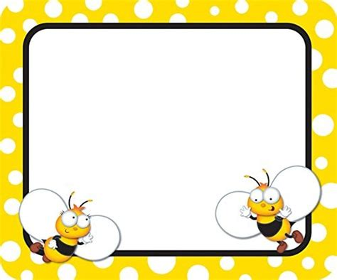 name tag border design pin by stephanie field on bees pinterest bees border