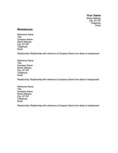 How To Use References In Resume