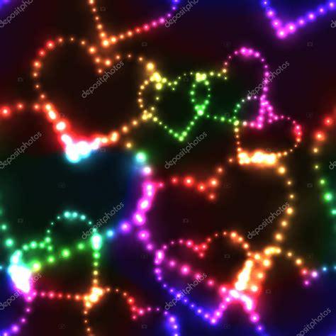 imagenes corazones oscuros ne 243 n brillando corazones de colores sobre fondo oscuro
