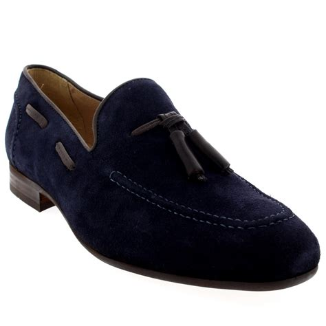 loafers uk mens mens h by hudson suede smart slip on work loafers