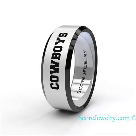 Wedding Bands Dallas by Tungsten Band Ring Beveled Edge Mens Womens Ring Nfl