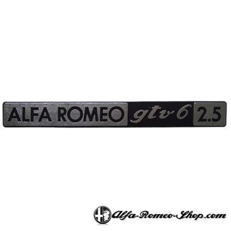 alfa gtv6 2 5 badge alfa romeo shop