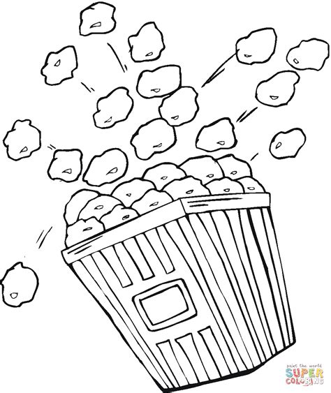 how to color popcorn popcorn picture to color coloring pages for and for