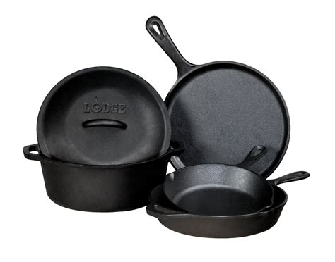 amazon skillet amazon lodge 5 piece cast iron cookware set only 76 99