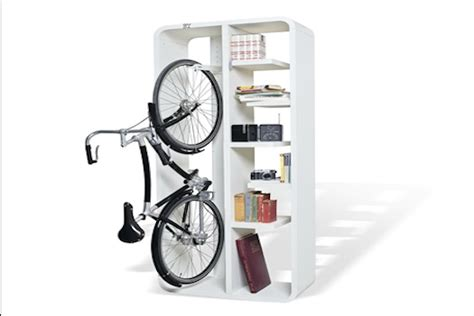 bookshelf bike rack offers cycle storage alongside your